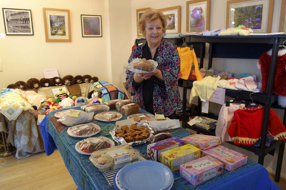 Hazel at the Pop-up Cake and Craft Sale at Safe Journey Home