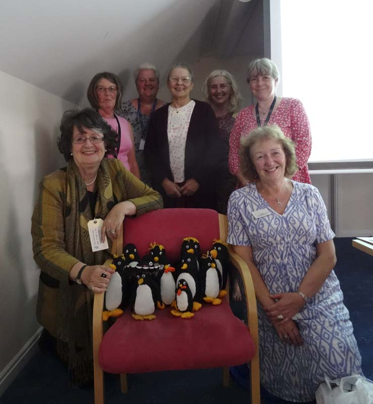 Knit and Natter penguins for RVS